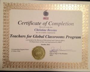 IREX certificate